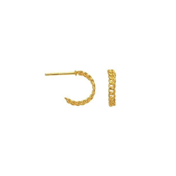 Handamde stud earrings in K14 gold KRI-S/E283
