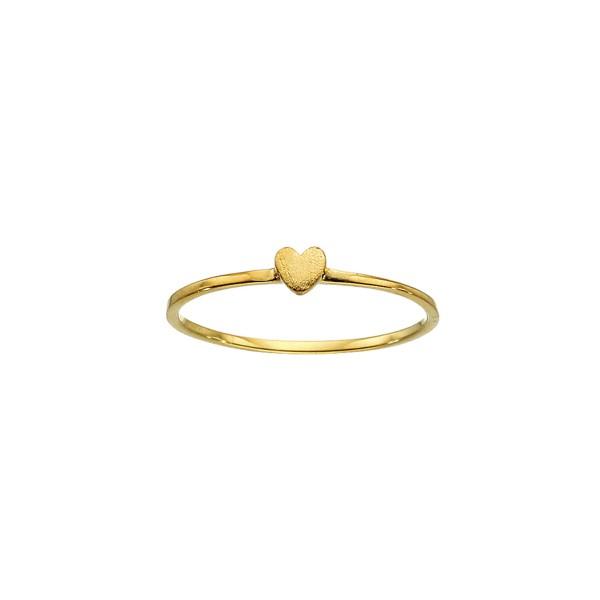 Χειροποίητο Δαχτυλίδι Καρδιά Χρυσό Κ14 KRI-D/K47
