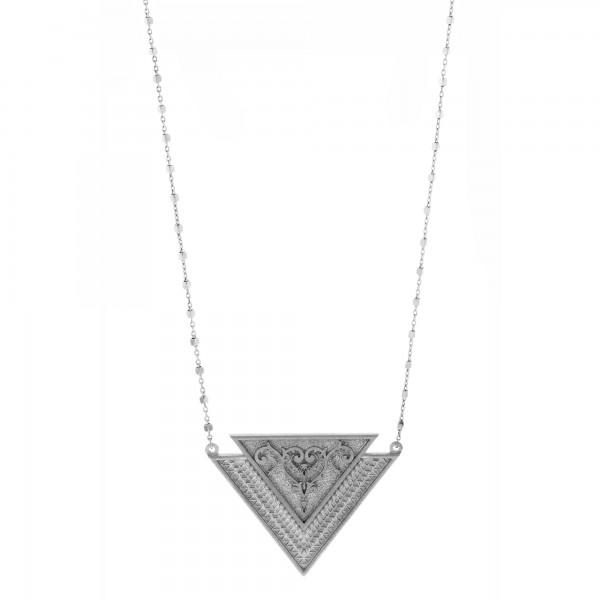 Vassia Kostara Κολιέ ασήμι 925 επιπλατινωμένο GRE-61047