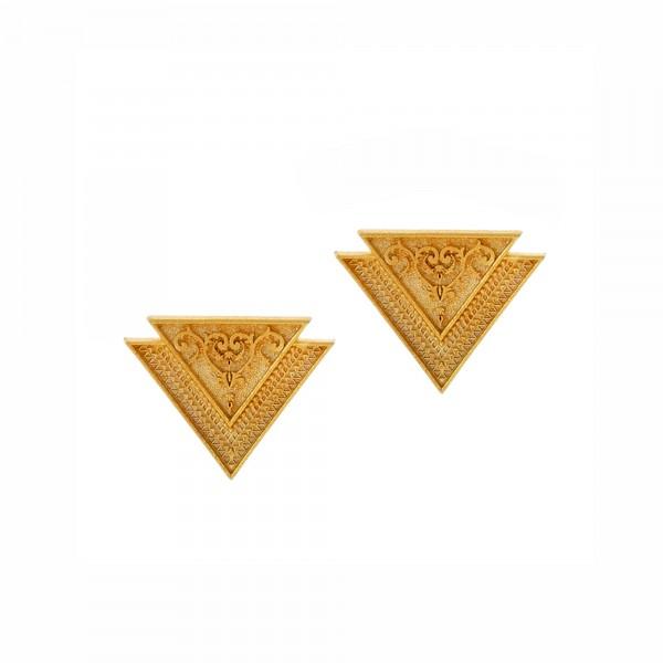 Vassia Kostara Σκουλαρίκια καρφωτά ασήμι 925 επιχρυσωμένο GRE-61065