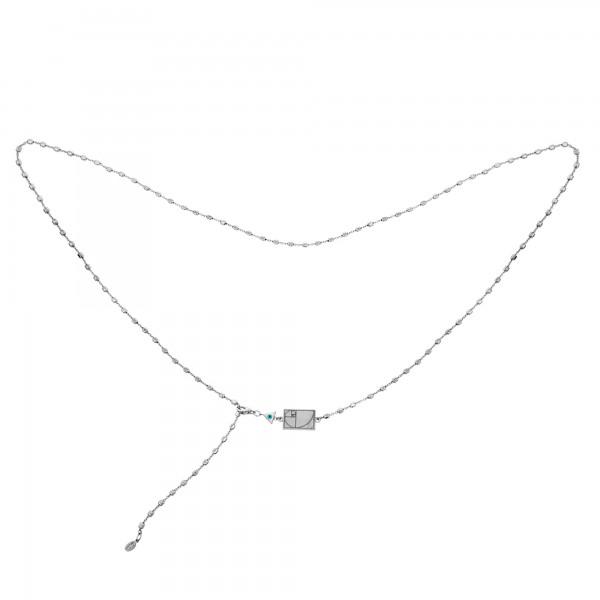 Vassia Kostara Κολιέ λαιμού ή μέσης ασήμι 925 επιπλατινωμένο GRE-61056
