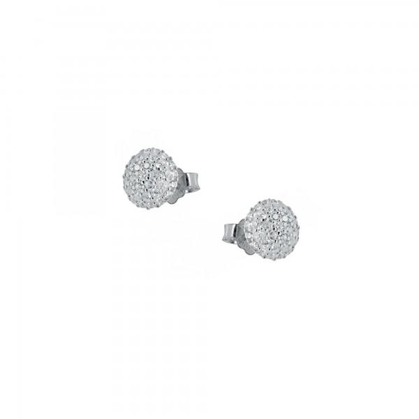 Σκουλαρίκια καρφωτά ασήμι 925 με ζιργκόν PS/8A-SC166
