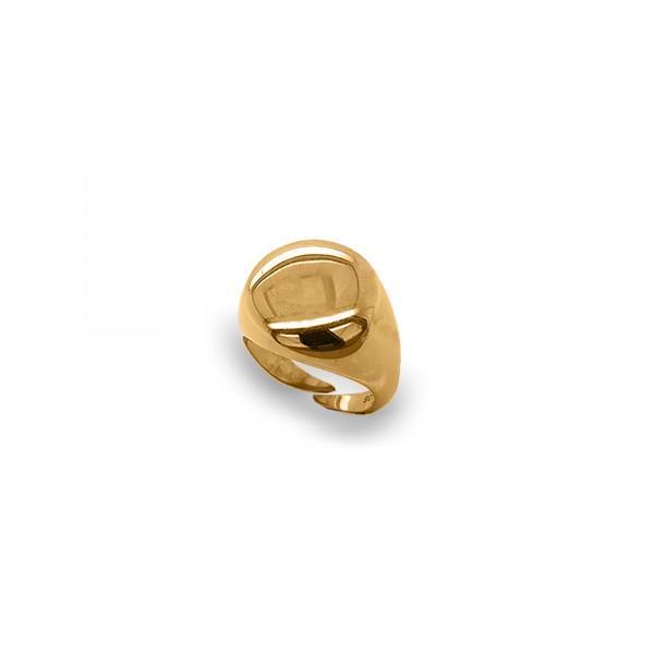 Δαχτυλίδι σεβαλιέ ασήμι 925 επιχρυσωμένο GRE-55746