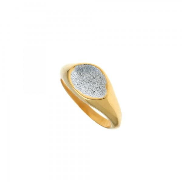 Δαχτυλίδι ασήμι 925 επιχρυσωμένο με σμάλτο GRE-59367