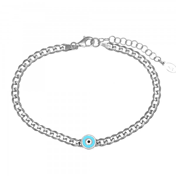Evil eye bracelet in silver 925 platinum plated GRE-55966