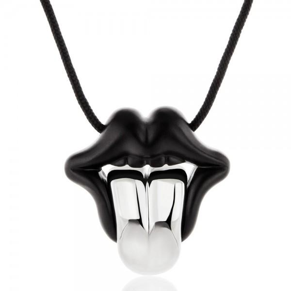 HONOR Tongue pendant black & silver colour