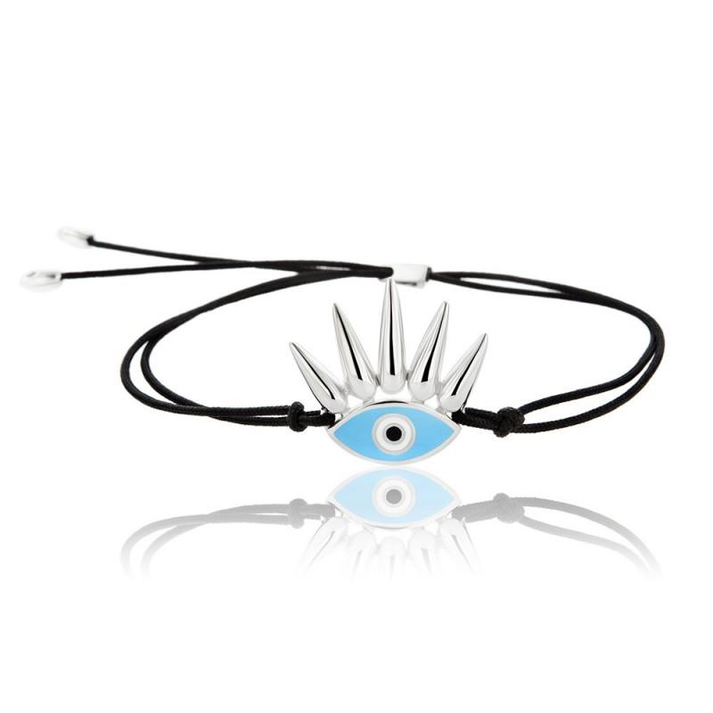 HONOR Eye of the Sun βραχιόλι ασήμι 925 μπλε σμάλτο