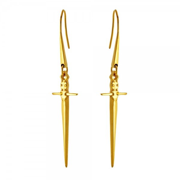 HONOR Sword Earrings silver 925 gold plated