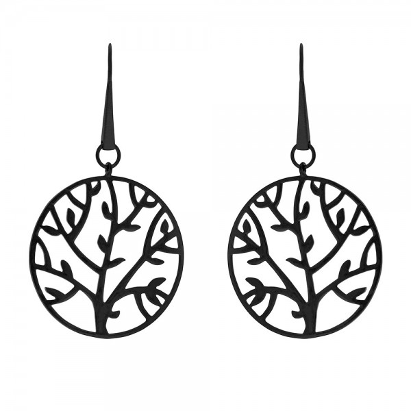 HONOR Tree of Life Earrings silver 925 black colour