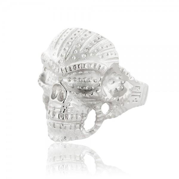 HONOR Indian Skull δαχτυλίδι ασήμι 925