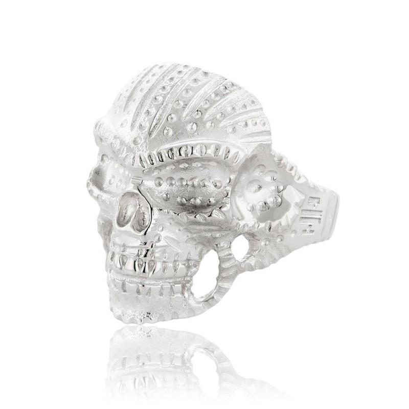 HONOR Indian Skull δαχτυλίδια ασήμι 925