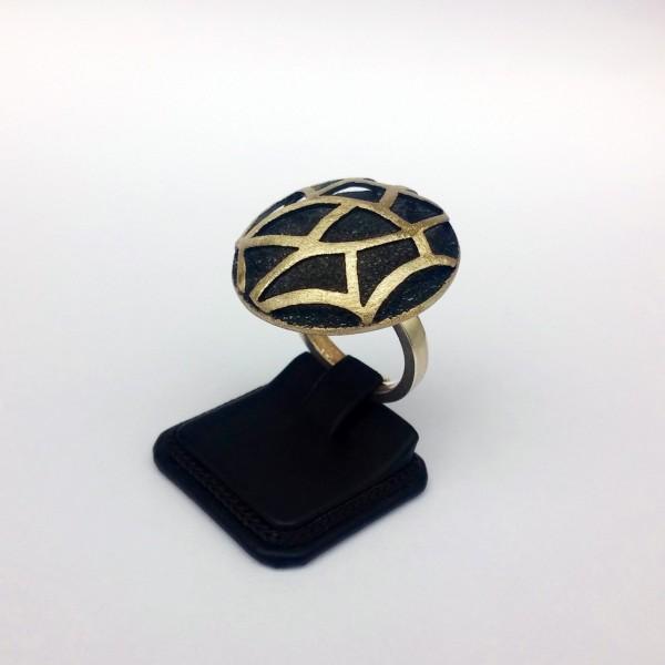 Δαχτυλίδι ασήμι 925 χειροποίητο οξειδωμένο σφυρήλατο