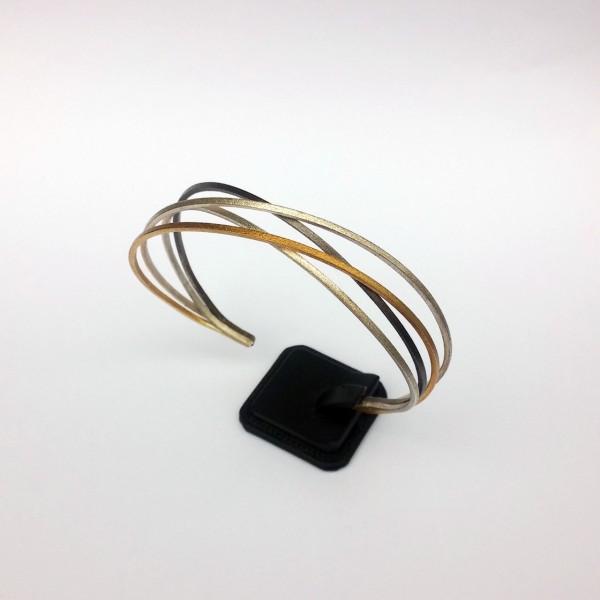 Βραχιόλι ασήμι 925 χειροποίητο επιχρυσωμένο οξειδωμένο