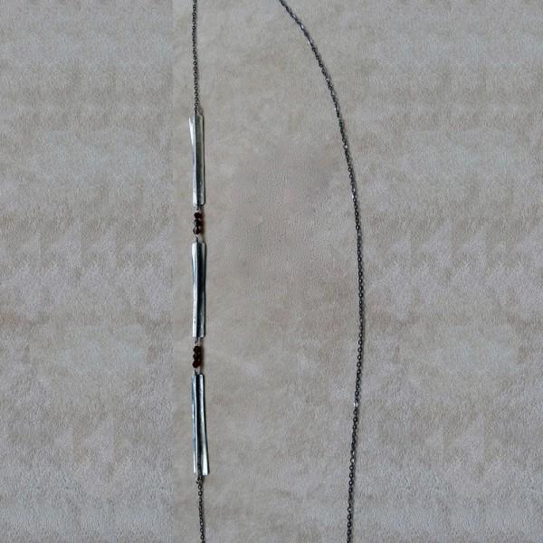 Κολιέ ασήμι 925 χειροποίητο ημιπολύτιμη πέτρα γρανάτης