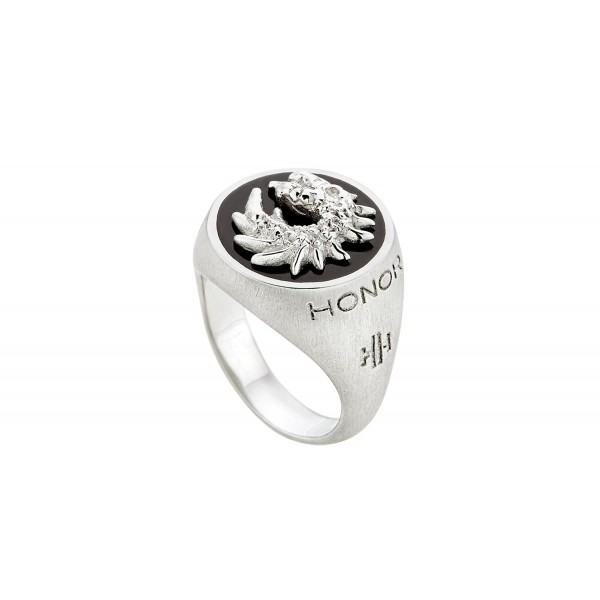 HONOR Dragon δαχτυλίδι από ασημί 925 και μαύρο σμάλτο