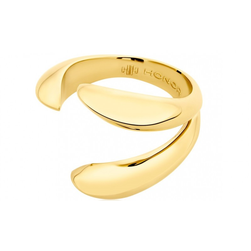 HONOR Tiger Claws δαχτυλίδι ασήμι 925 επίχρυσο