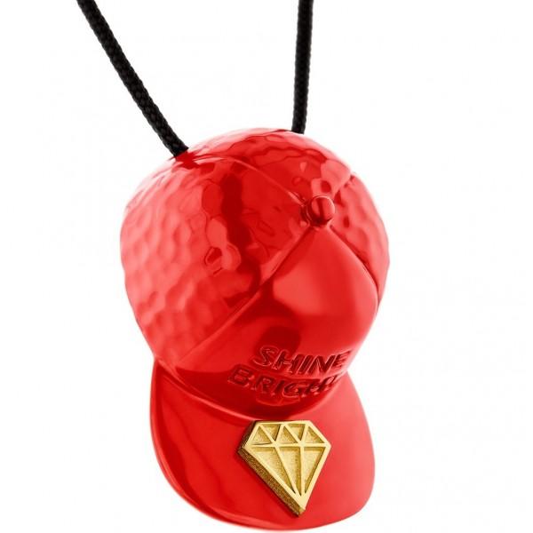 HONOR Shine Bright like a Diamond Hat Pendant red gold