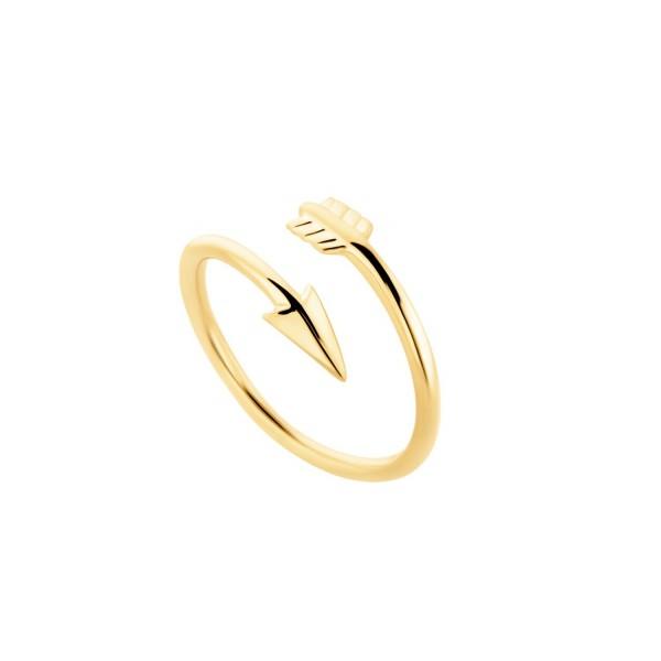 Arrow Δαχτυλίδι βέλος ασήμι 925° επίχρυσο